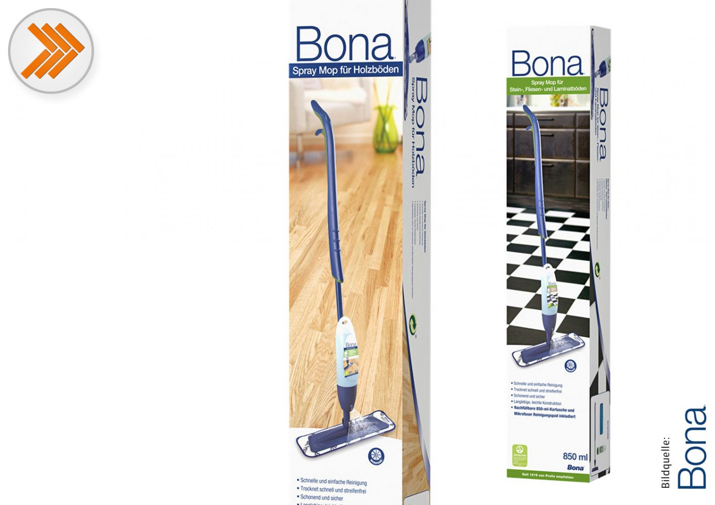 Spray Mop Parkett/Spray Mop Fliesen+Laminat Bona
